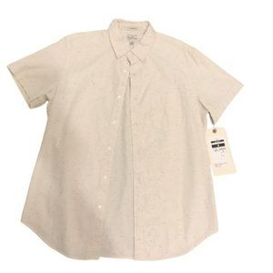 J. CREW Button Up Tan Speckled Casual Shirt